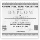 (7/9): Dyplom za udział w XI Rajdzie Rajdzie Górskim Młodzieży Powiatu Pszczyńskiego<br>3 października 2009r.\