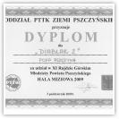 (8/9): Dyplom za udział w XI Rajdzie Rajdzie Górskim Młodzieży Powiatu Pszczyńskiego<br>3 października 2009r.\