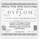 (11/14): Dyplom za udział w XII Rajdzie Górskim Młodzieży Powiatu Pszczyńskiego - DIABLAK I<br>2 październik 2010r.
