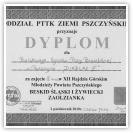 (14/14): Dyplom za zajęcie czwartego miejsca w XII Rajdzie Górskim Młodzieży Powiatu Pszczyńskiego - DIABLAK III<br>2 październik 2010r.