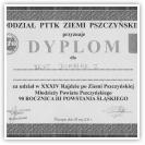 (1/14): Dyplom dla UKST DIABLAK za udział w XXXIV Rajdzie Po Ziemi Pszczyńskiej Młodzieży Powiatu Pszczyńskiego, 28 maja 2011r.