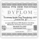 (2/9): Dyplom za zajęcie czwartego miejsca w quizie wiedzy o Beskidzie ¦l±skim - XIII Rajd Górski Młodzieży Powiatu Pszczyńskiego - 1 paĽdziernika 2011r.