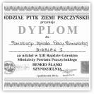(3/9): Dyplom za udział w  XIII Rajdzie Górskim Młodzieży Powiatu Pszczyńskiego - 1 paĽdziernika 2011r. gr. I