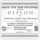 (4/9): Dyplom za udział w  XIII Rajdzie Górskim Młodzieży Powiatu Pszczyńskiego - 1 paĽdziernika 2011r. gr. II