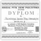 (5/9): Dyplom za udział w  XIII Rajdzie Górskim Młodzieży Powiatu Pszczyńskiego - 1 paĽdziernika 2011r. gr. III
