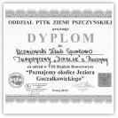 (9/9): Dyplom za udział w VIII Rajdzie Rowerowym dla UKST DIABLAK 14 maja 2011r.